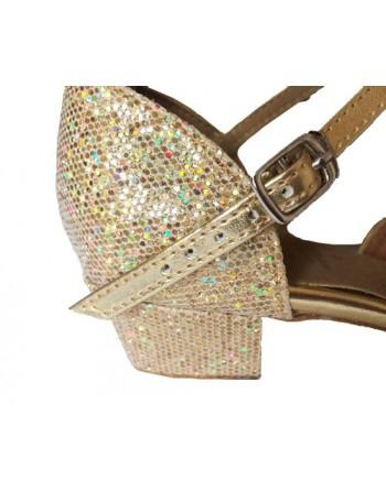 Taneční boty Stacey/C zlaté holografické