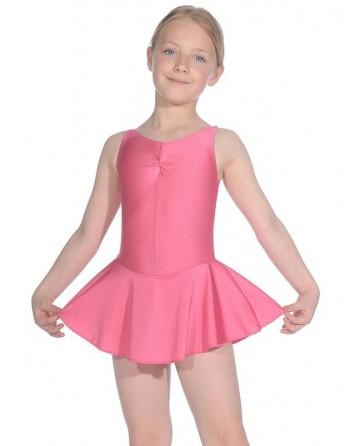 Dětský baletní trikot bez rukávů se sukýnkou