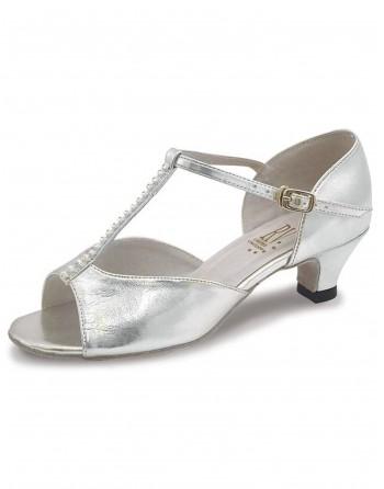 Taneční boty stříbrné Lara