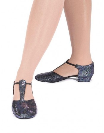 Řecké sandály holografické černé