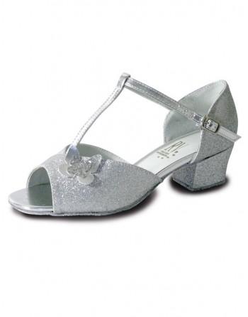 Třpytivé stříbrné taneční boty Carrie