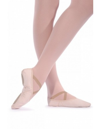 Taneční piškoty s rozdělenou podrážkou, pro širší nohu - látkové, dámské