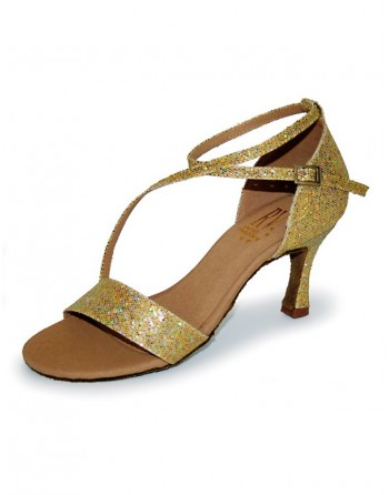 Třpytivé zlaté taneční boty Liliana
