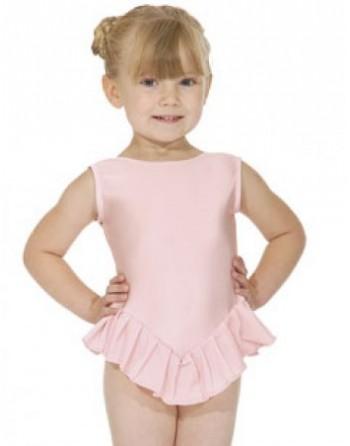 Dětský baletní trikot s volánky NF100 růžový