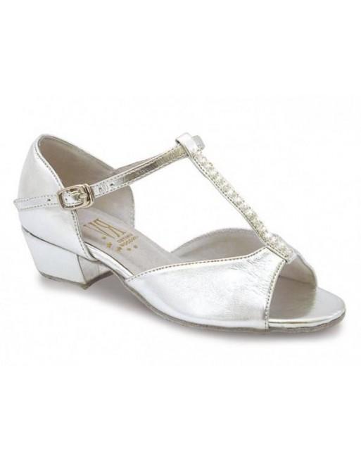 Taneční boty Marika stříbrné