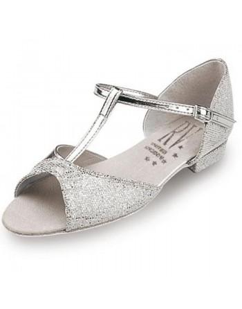 Dětské stříbrné taneční boty Stacey/S
