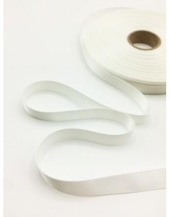 Bílá saténová stuha k saténovým piškotům, 1 m