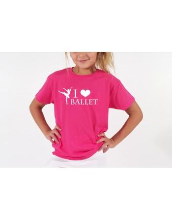 Dětské tričko I Love Ballet