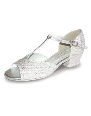 Taneční boty Stacey/C stříbrné holografické