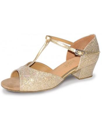 Taneční boty Stacey stříbrné holografické