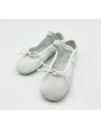 Standardní taneční piškoty kožené bílé dětské