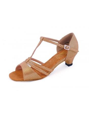 Taneční boty Evie zlaté holografické