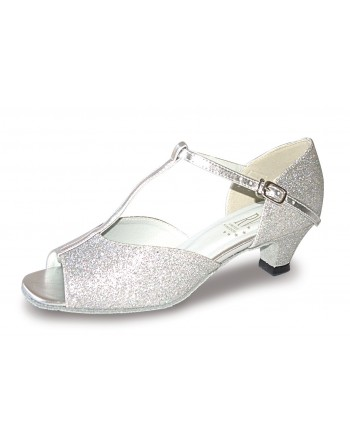 Taneční boty ADUO stříbrné