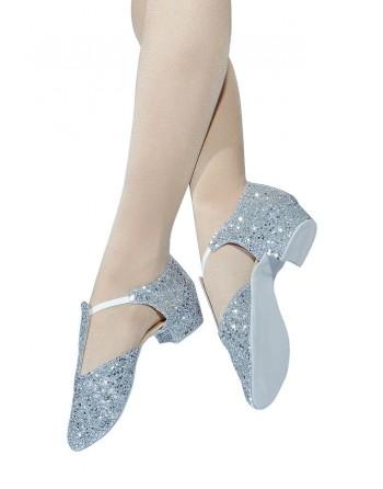 Řecké sandály třpytivé stříbrné