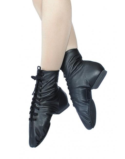 Taneční boty na jazz kotníčkové, černé