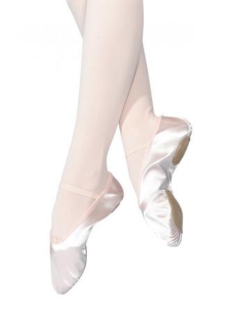Taneční piškoty s rozdělenou podrážkou - saténové, dámské