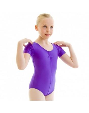 Dětský baletní trikot Jeanette s krátkým rukávem