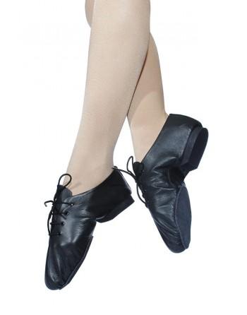 Bílé taneční boty na jazz s mikro-podrážkou