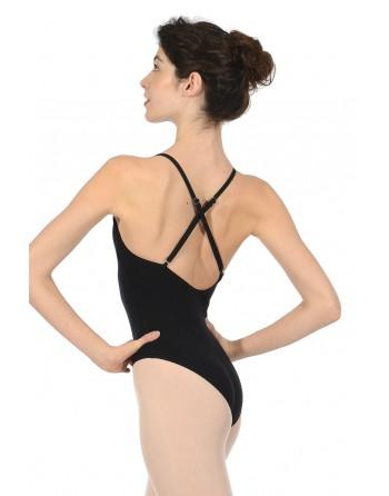 Baletní trikot Nancy černý - bavlna/lycra
