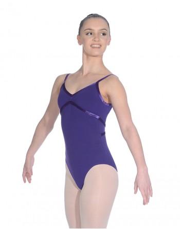 Baletní trikot Toni - bavlna/lycra - fialová