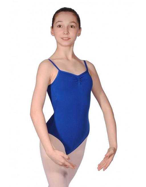 Baletní trikot Ava - bavlna/lycra - královská modrá