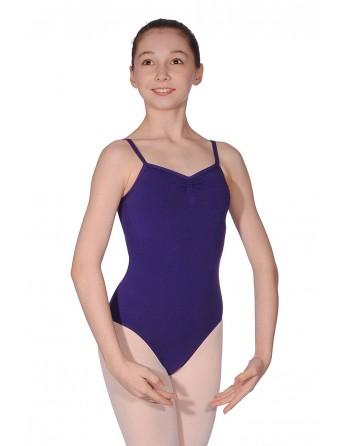 Baletní trikot Ava - bavlna/lycra - fialová