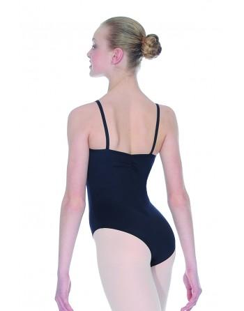 Baletní trikot Fouette černý, zezadu