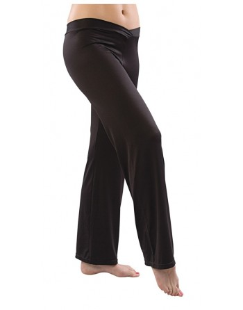 Taneční kalhoty z mikrovlákna s véčkovým pasem
